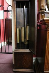 Early 20th Century Oak Long Case Clock With a Multi Chim 8 Days 14 hour Movement