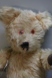 Early 20th Century Plush Bear With Jointed Body