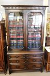 Early 20th Century Solid Oak 2 Door Bookcase