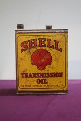 Early Australian Shell One Gallon Transmission Oil Tin