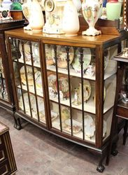 Early C20th 2 Door Display Cabinet English C1920