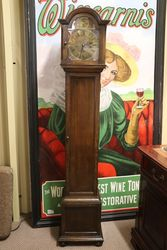 Early C20th Brass Face 8 Day Westminster Oak Grandmother Clock