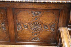 Early C20th English Oak Monks Bench