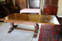 Early C20th French Drawer Leaf Dinning Table