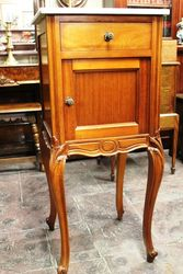 Early C20th French Walnut Bedside Cabinet
