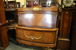 Early C20th French Walnut Queen Size Bed