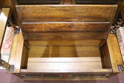 Early C20th Gotitic English Oak Monks Bench C1920