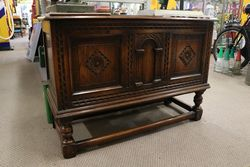 Early C20th Ipswich Oak Coffer on Stand