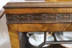Early C20th Mahogany 2 Door Display Cabinet