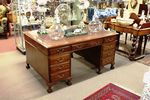 Early C20th Mahogany Partners Desk