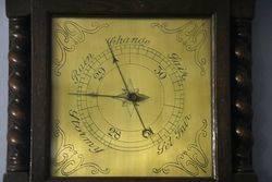Early C20th Oak Barley Twist Barometer C1920