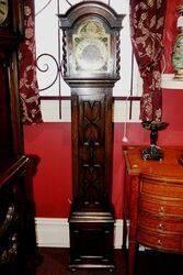 Early C20th Oak Brass Face Grandmother Clock