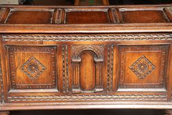 Early C20th Oak Coffer on Stand
