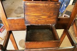 Early C20th Oak Hall Stand