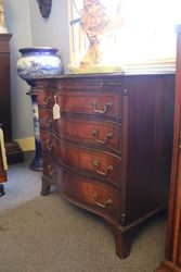 Early C20th Serpentine Mahogany Chest of Drawers