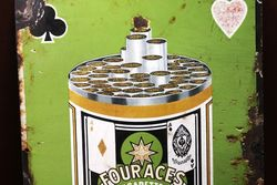 Early Four Aces Pictorial Cigarette Advertising Sign