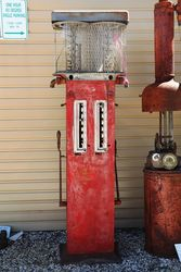 Early Gilbert and Barker Double Manual Petrol Pump