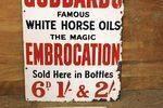 Early Goddards Horse Oil Advertising  Enamel Sign