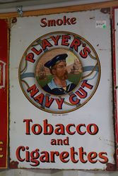 Early Players Navy Cut Pictorial Enamel Sign