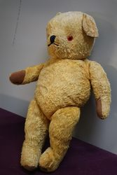 Early Plush Bear Jointed Body With Growler