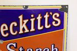 Early Reckitts Starch Enamel Advertising Sign