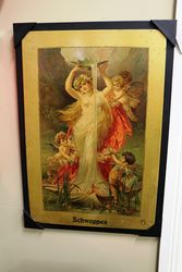 Early Schweppes Pictorial Advertising Sign