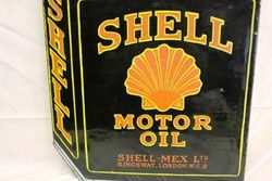 Early Shell Black Can Enamel Double Sided Sign