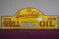 Early Shell Harbor Bridge Double Guaranteed Enamel Sign