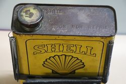 Early Shell Tin With Basket Carrier