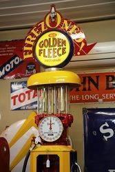 Early Siam Clock Face Manual Petrol Pump