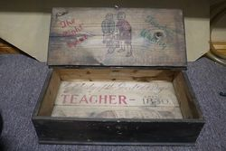 Early Teacher Est 1800 Whisky Pictorial Advertising Box