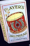 Early Vintage Players Drumhead Cigarettes Enamel Sign