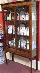 Edwardian 2Door Mahogany Display Cabinet