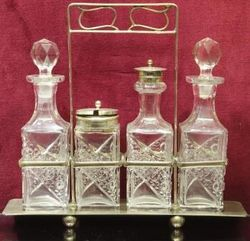 Edwardian 4Bottle Cruet c1900
