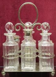 Edwardian 6Bottle SilverPlated Cruet