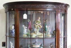 Edwardian Mahogany Half Round Display Cabinet