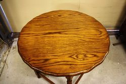 Edwardian Oak Barley Twist Occasional Table