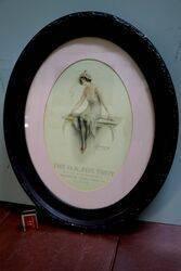 Edwardian Oval Framed Masons OK Sauce Pictorial Ad