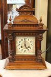 Edwardian Walnut Cased Two Train Mantle Clock