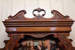 Edwardian Walnut Mirror Back Sideboard