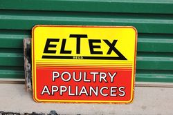 Eltex Double Sided Enamel Sign With Bracket