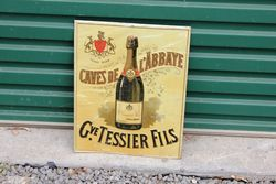 Embossed French Champagne Tin Sign
