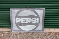 Embossed Pepsi tin Advertising Sign