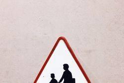 Enamel Children Crossing Sign