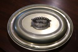 English Bead Edge Dish C1890 EPNS Silver