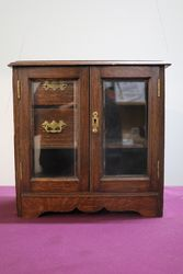 English Oak 2 Door Smokers Companion C1900 10