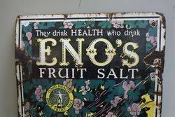 Enoand39s Fruit Salt Pictorial Enamel Advertising Sign