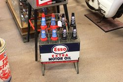 Esso Double Sided 8 Oil Bottle Rack