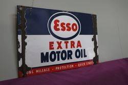 Esso Extra Motor Oil Enamel Advertising Sign
