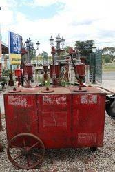 Esso Portable Triple Pump Oil Cart in Original Condition